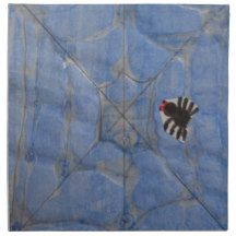 Art by Children, Spider with cobweb, drawing Cloth Napkin