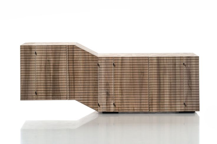 MADIA ALPLAN: Monolithic four-door container, with vertical fiber. Surfaces finished by hand plane and gouge. Bolts and hinges expressly designed in burnished steel. #Habito #GiuseppeRivadossi #furniture #Italy #wood