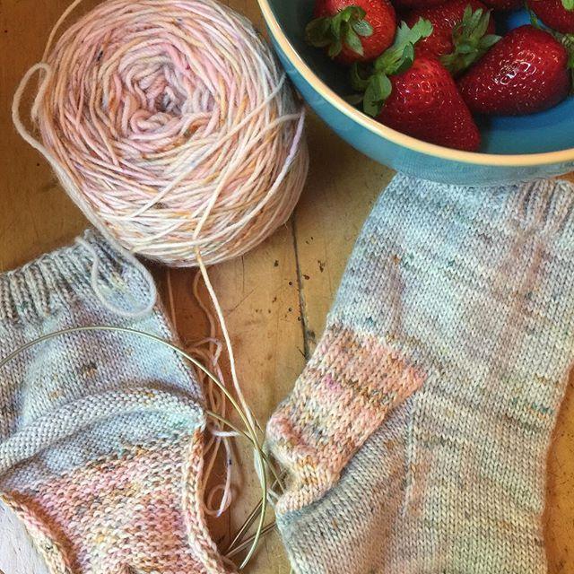 We always have a pair of socks in the making on our needles. The perfect light weight summer knitting. #yarnaddict #knittingsocks #yarn #knittingworkshop #crochetworkshop #stitchingworkshop #fishermansrib #4plysockyarn #aplacamerinoyarn #craftingcommunity #craft #creative #themakerssuitcase #australianyarndyer #australian