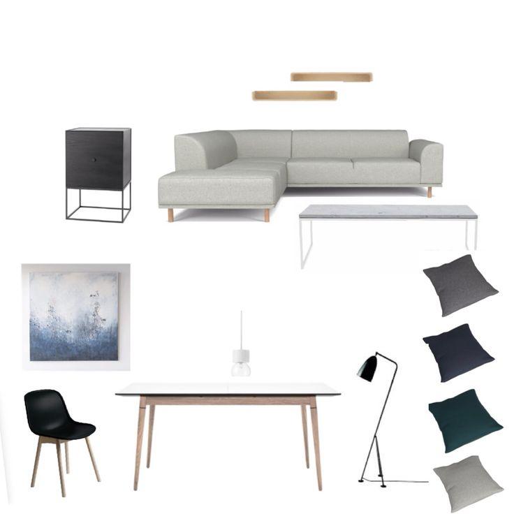 Moodboard - stue/kjøkken