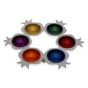 Metal Rainbow Passover Seder Plate from Shraga Landesman