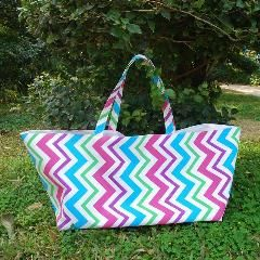 [ $172 OFF ] Wholesale Blanks Multi Chevron Tote Bag Zig Zag Game Day Tote Rainbow Market Handbag Stripes Utility Tote Dom1038083