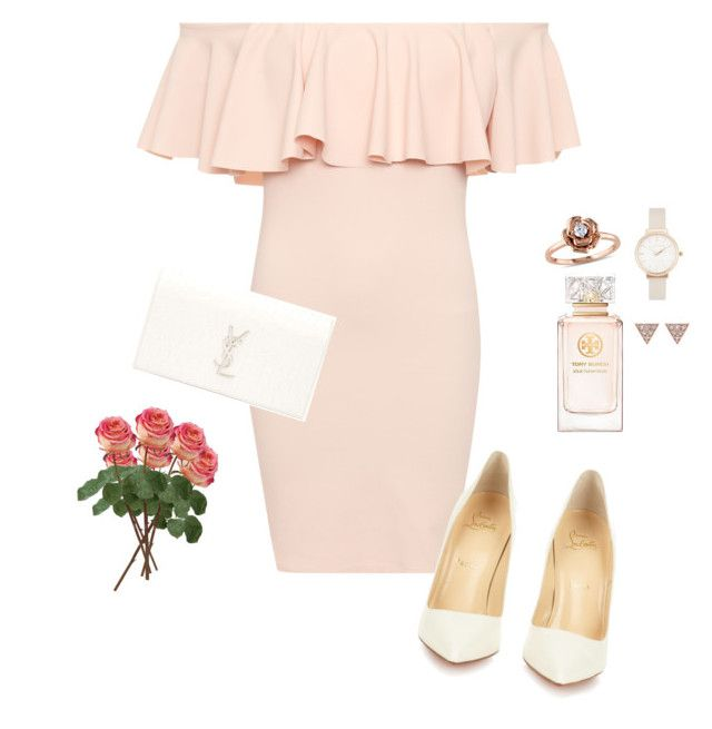 Untitled #182 by creece-massoudi on Polyvore featuring polyvore, fashion, style, WearAll, Christian Louboutin, Yves Saint Laurent, Amour, Olivia Burton, ADORNIA, Tory Burch and clothing