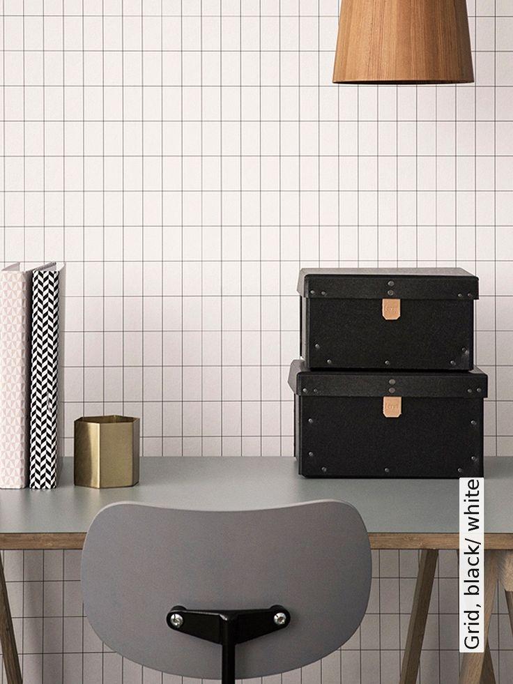 Die besten 25+ Tapete schwarz weiß Ideen auf Pinterest - wohnzimmer schwarz rot