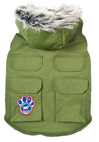 Canada Pooch Everest Explorer Jacket Green Size 16 *** Details can be found by clicking on the image. (This is an affiliate link) #dogapparel