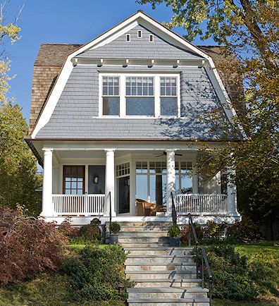 Home Exterior. Porch. Stairs. Anne Decker Architects
