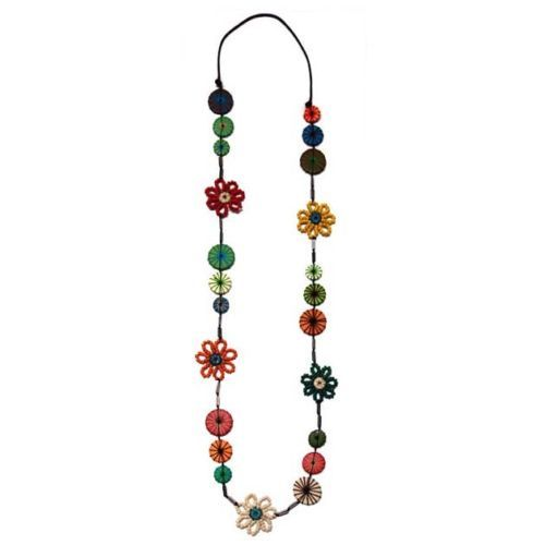 Unique-Wooden-Button-and-Yarn-Flower-Long-Necklace
