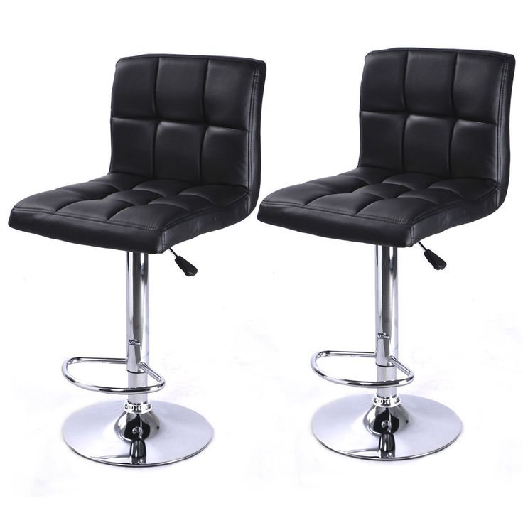 Black Leather Bar stools Chair (Set of 2) for $74 http://sylsdeals.com/black-leather-bar-stools-chair-set-of-2-for-74/
