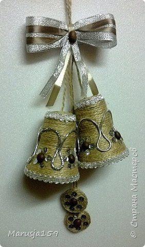 Поделка изделие Новый год Рождество Моделирование конструирование Скоро скоро Новый Год  Кофе Ленты Шпагат фото 2
