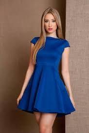 Vestidos en color azul rey para invierno