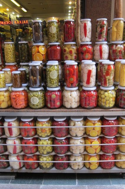 A Seasonal Cook in Turkey: My Foodie Stroll Through Beyoğlu - a pickle seller or turşucu