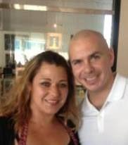 Carol Tellez and Mr World wide Pitbull hanging in RWC  http://en.wikipedia.org/wiki/Pitbull_(rapper)