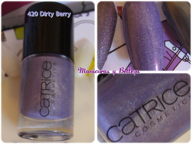 420 Dirty Berry, Catrice swatches