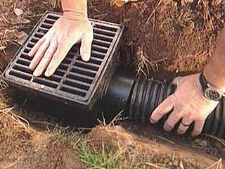 french drain for standing water in yard - Google Search
