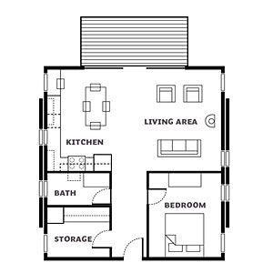 Washington cabin floor plan - Affordable Cabin Escape - Sunset Mobile