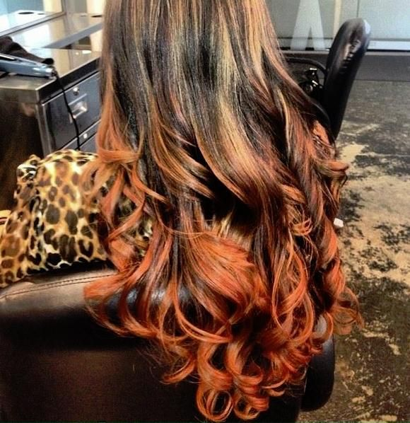 fire ombre, blended highlights all the way up A beautiful billowing mane on (the softest) fire.