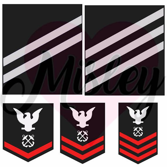 US Navy Emblems and Rank Insignias Bundle SVG PNG and