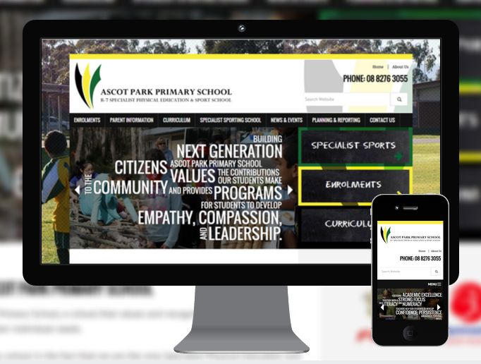Ascot Park Primary School is a specialist sporting school in Adelaide's southern suburrbs  #responsive #websitedesign #education