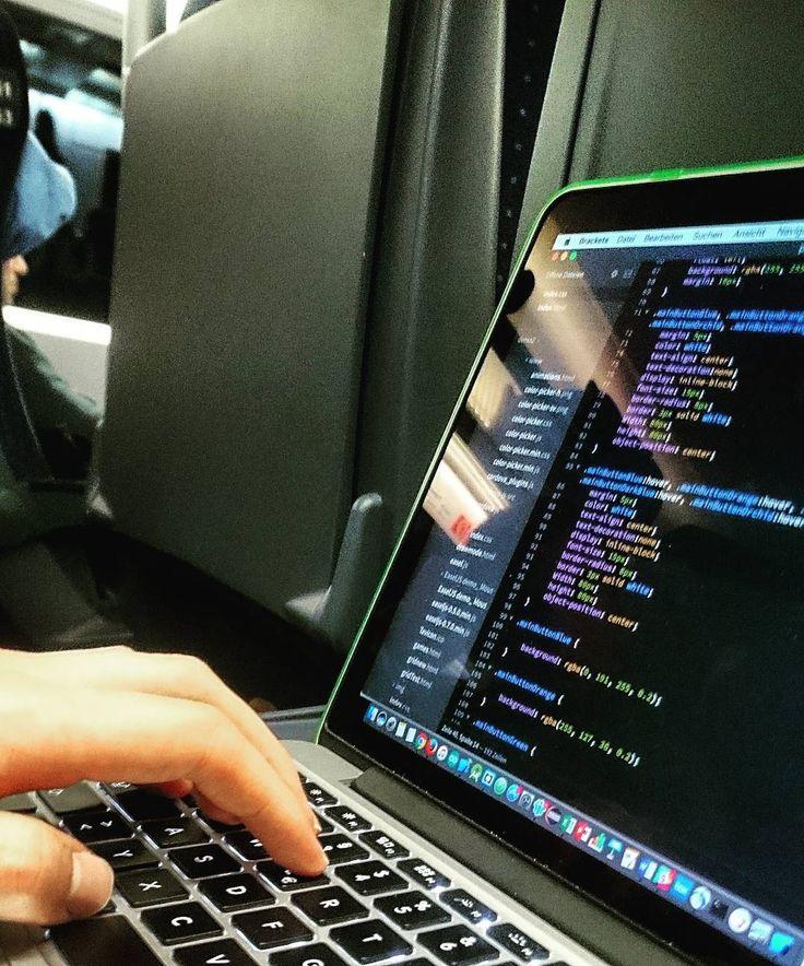 #coding some #lines of #css while over 5 hours on #train from #munich to #hamburg  #webprogramming #programming #javascript #php #web #webdesign #brackets #cordova #geeklife #geek #macbookpro #macbook #apple #ice #wifi #deutschebahn #db #weekend #developer #developing