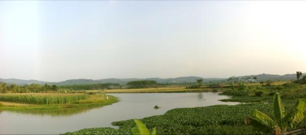 Tadi di Roban bnyk yg mancing di sungai ini. Ternyata banyak ikannya krn nyambung ke laut alias muara #Batang  | via @dessey