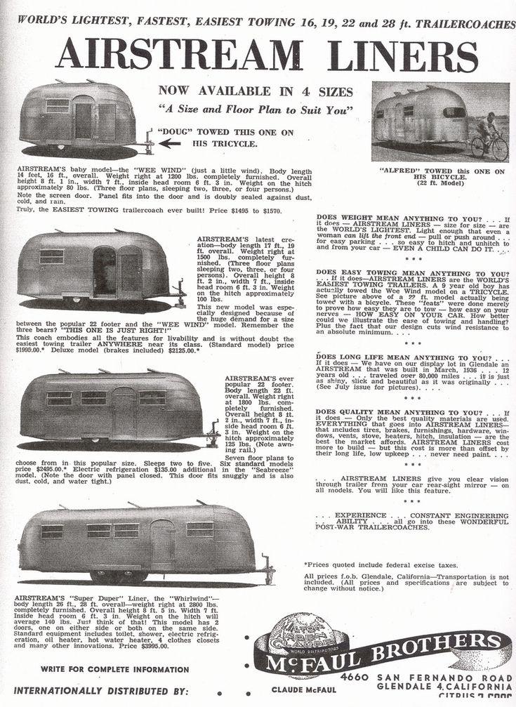 wee wind - 1948 airstream models