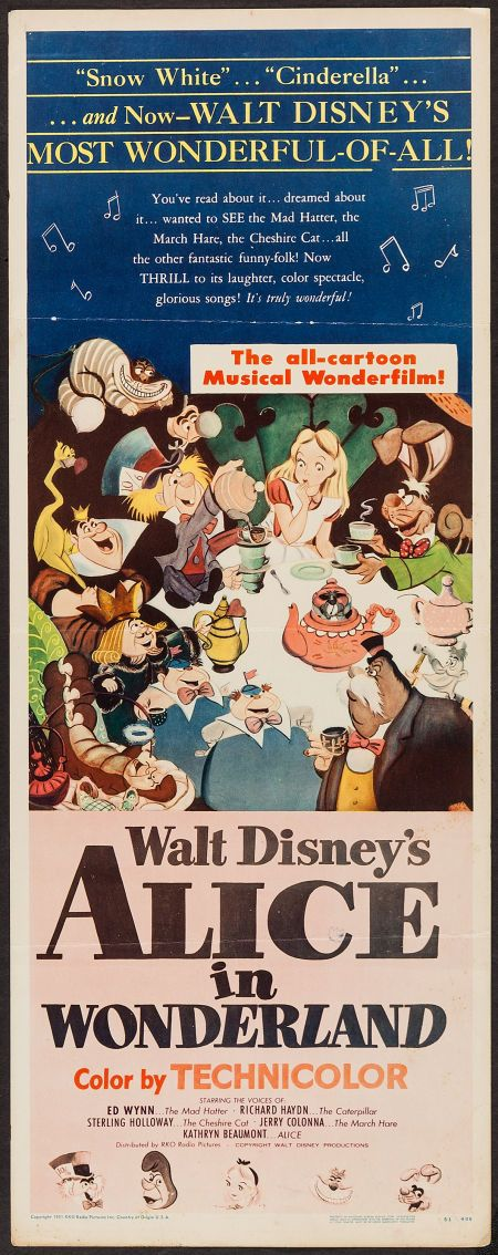 Alice in Wonderland (RKO, 1951) #AliceinWonderland #Disney ...