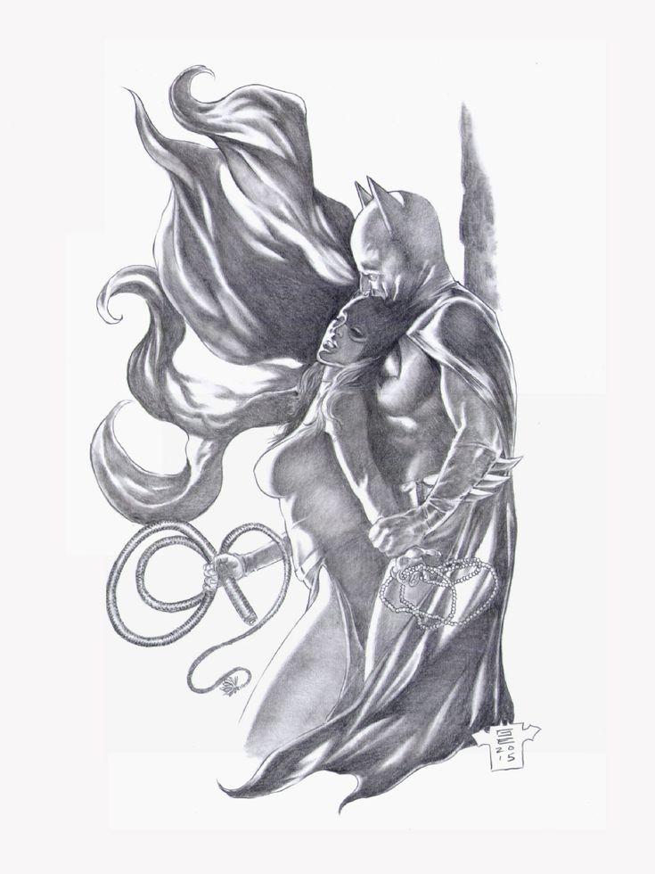 Batman vs Catwoman by Gene Espy