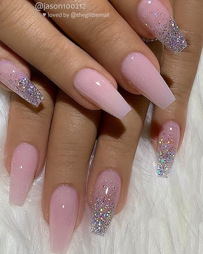 39 Chic Acrylic Gel Coffin Nails Design Ideas Summer Nail Purple Ideen In 2020 Coffin Nails Designs Pretty Acrylic Nails Pink Acrylic Nails