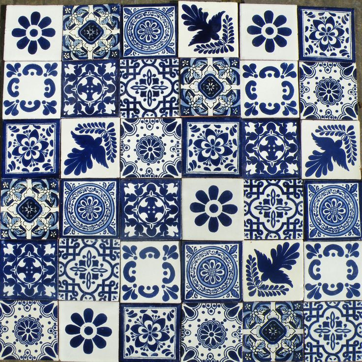 Blue tile patchwork
