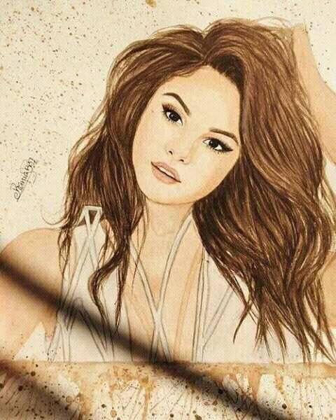Selena gomez drawing draw pinterest selena gomez - Selena gomez dessin ...