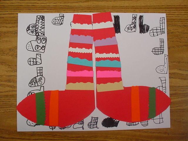 Mrs. Knight's Smartest Artists: A pair of socks: 1st grade