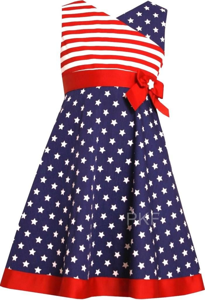 "Stars and Stripes Outfits | ... Girls ""PATRIOTIC STARS & STRIPES"" Size 5 4th OF JULY Dress Clothes NWT"