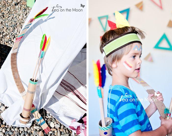 DIY arco y flechas de disfraz de indio Arrow indian costume #DISFRACES