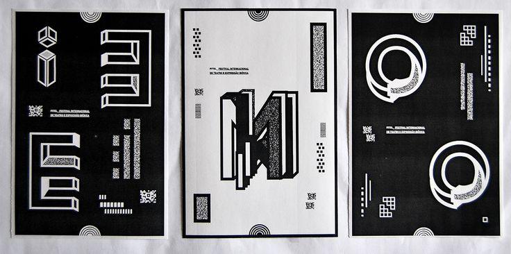 Elaboração de peças Merchandising com a sua respectiva Identidade Gráfica, para o Festival Internacional de Teatro e Expressão Ibérica (FITEI) abordando o conceito de Ilusão de Óptica na Tipografia, alusivo ao Mimetismo, fazendo uso do 3D.