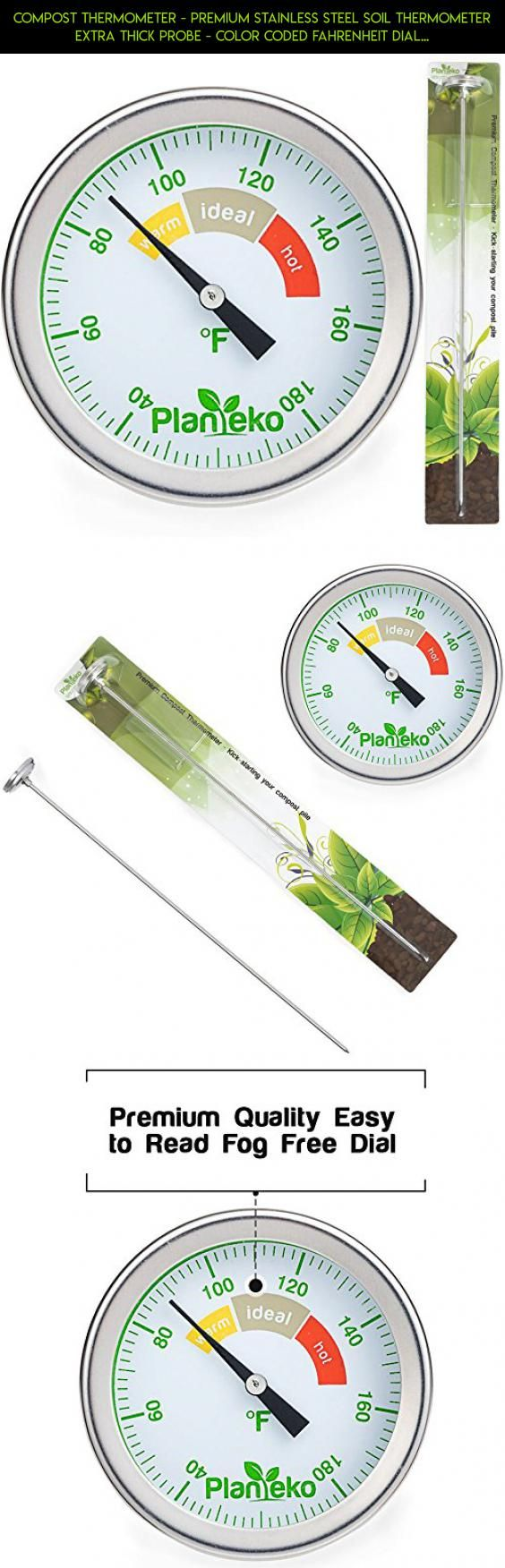 Compost Thermometer - Premium Stainless Steel Soil Thermometer Extra Thick Probe - Color Coded Fahrenheit Dial - Extra Long 20 Inch Stem - Ideal for Backyard Composting #drone #kit #plans #shopping #fpv #technology #racing #camera #products #gadgets #jade #tech #heating #parts