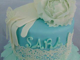 FLOWER CAKE DESIGNER: Bolo de aniversario vintage
