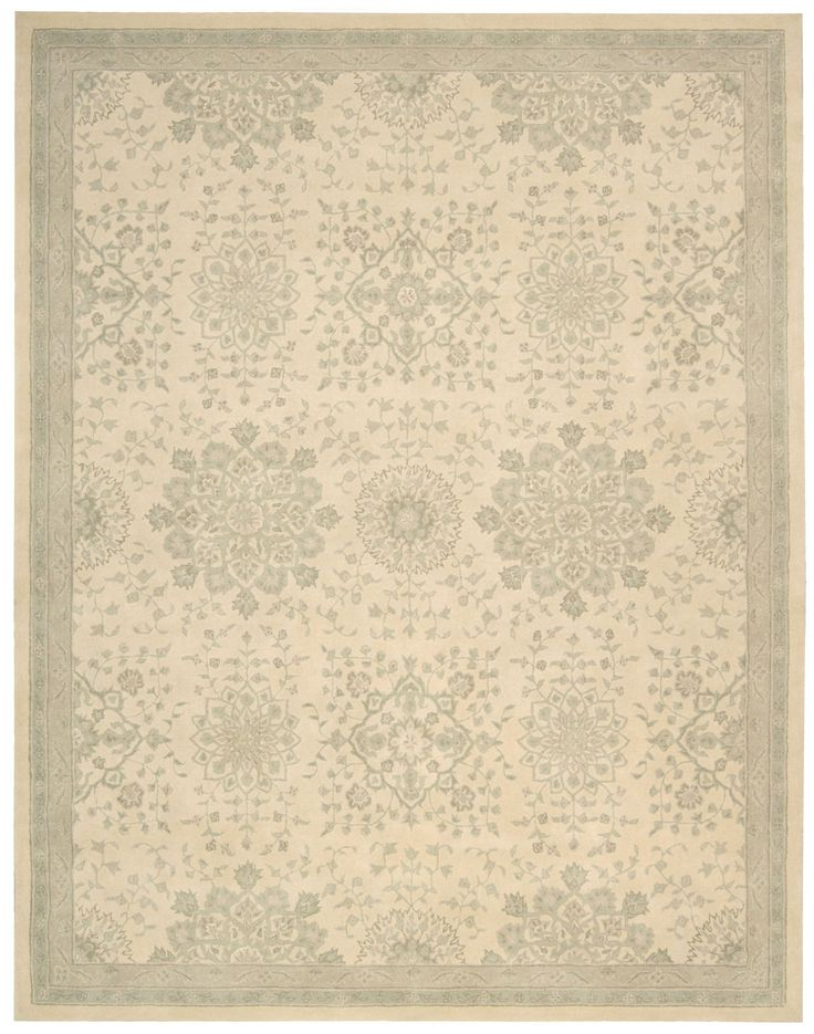 Kathy Ireland Royal Serenity St. James Bone Area Rug By Nourison SER02 BONE (Rectangle)