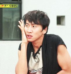 gif - gwangsoo trying to be joon from MBLAQ on runningman idol special