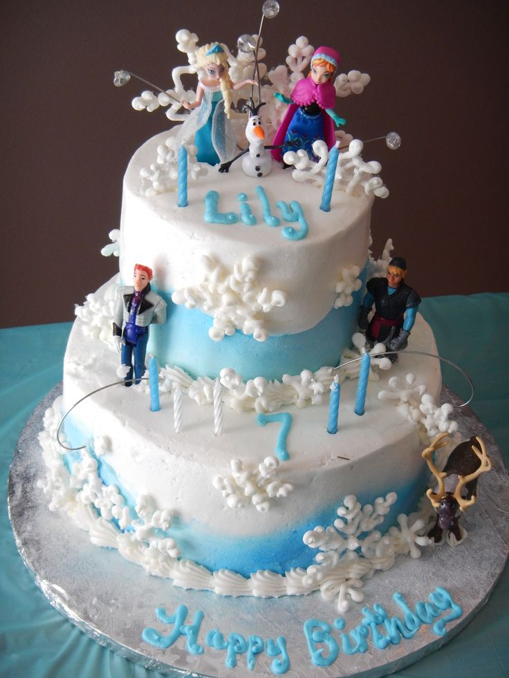 Birthday Cake Ideas Disney Frozen : Pin by Monica Violante on Cupcakes and Cakes Pinterest