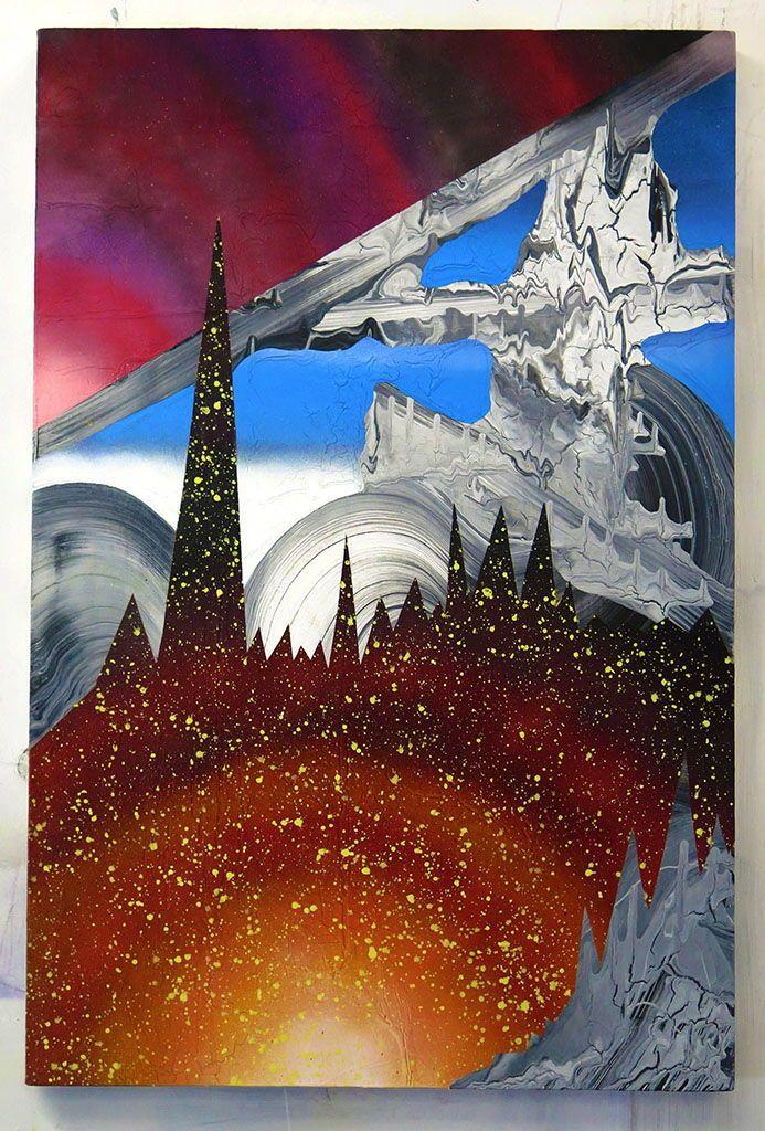 The Pre-Birth Realm, 2015 Acrylique, latex, peinture en aérosol sur panneau de…