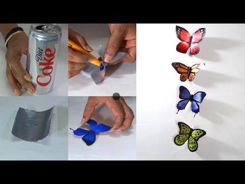 DIY - How to Make Butterflies With Coke Tin's - Tutorials