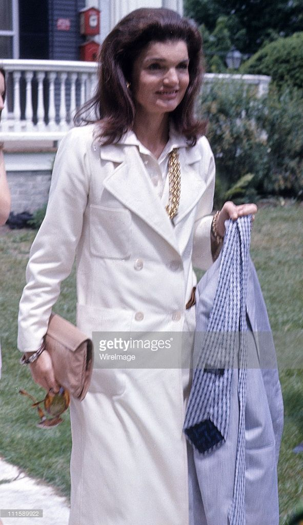 Jackie Onassis during Caroline Kennedy's Graduation Party - June 6, 1973 at Kennedy Compound in Hyannisport, United States.