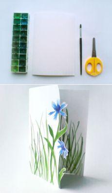 Подарок маме на 8 марта. Как сделать легкую открытку. | ИЗ БУМАГИ СВОИМИ РУКАМИ