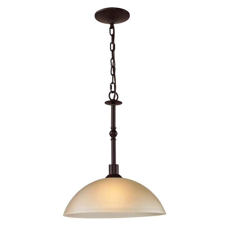 1 Light Pendant In Oil Rubbed Bronze