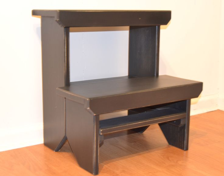 Step Stool  Black  Two Step Stool  Step Stool  Primitive Step. 17 Best ideas about Kitchen Step Stool on Pinterest   4 step