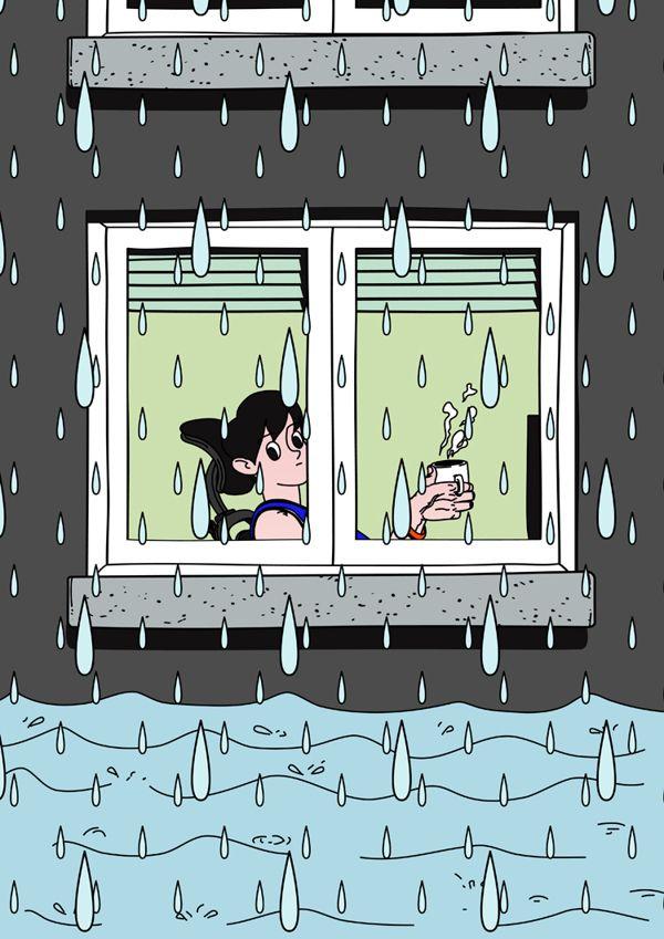 rainy days by Jungyoun Kim, via Behance
