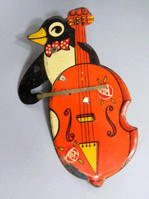 Vintage Penguin Clicker toy