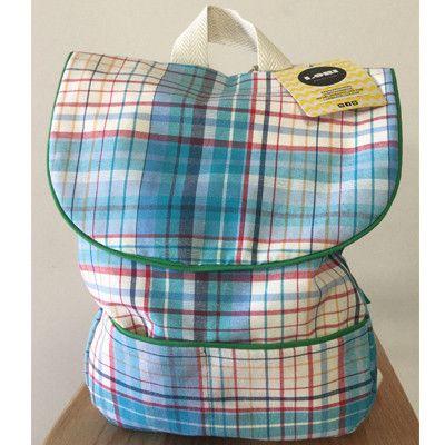 Lori Barcelona Blue Check backpack - small
