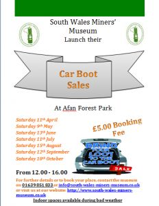 Looking To Make Some Extra Money Wanting Pick Up Something Cheap The South Wales Miners Museum Is Pleased Announce Multiple Car Boot Sales