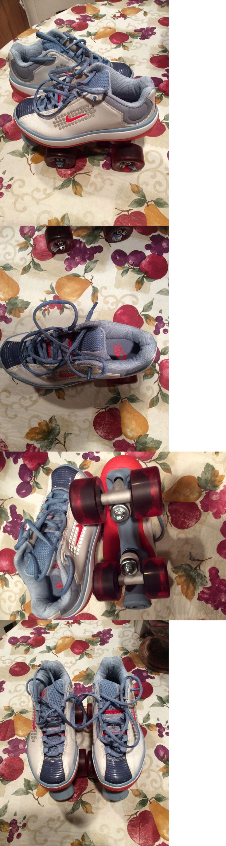 Women 16261: Womens Nike Beachcomber Roller Skates Derby Rollo Wheels Size 5 Reflective BUY IT NOW ONLY: $55.0